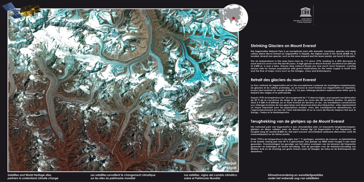 Exhibition Satellites and World Heritage sites, partners to